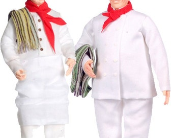1:12 Scale Miniature Chef Dollhouse Dolls