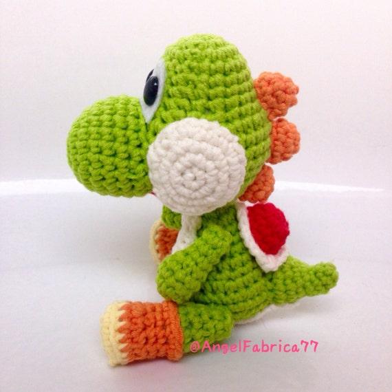 Amigurumi Teddy Bear Crochet Pattern : Yarn Yoshi Dinosaur Crochet Amigurumi Mario by AngelFabrica77