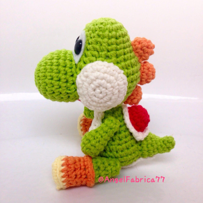Yarn Yoshi Dinosaur Crochet Amigurumi Mario Birthday gift for