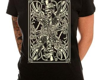 Skeleton Playing Card Women's T-Shirt