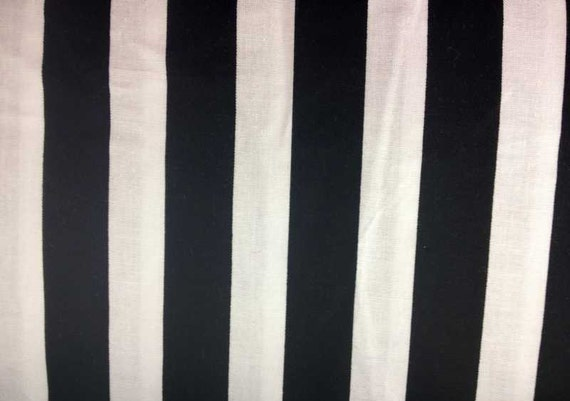 Black And White Stripe Fabric By The Yard Half Fat
