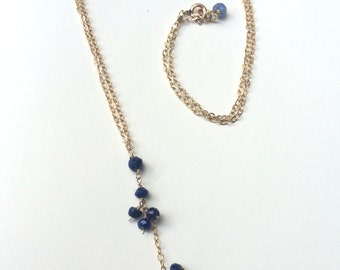Clusters of Lapis Necklace