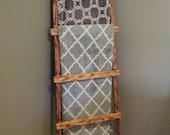 Wood Ladder~Blanket Ladder, Rustic Home Decor, Wood Ladder, Home Decor, Towel Holder, Rustic Wood Ladder, Wooden Ladder, Blanket Holder