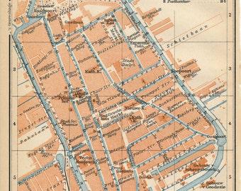 Delft map Etsy