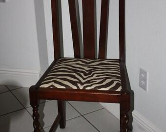 SOLD-Vintage Walnut Turned leg Chairs
