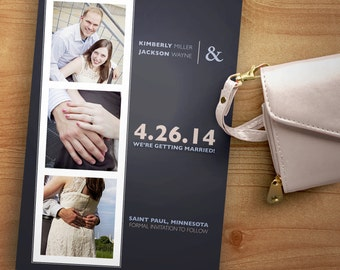 Photo Booth Style Save the Date - Digital Files