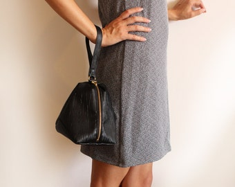 New York Clutch, Black evening bag, Black clutch, Vegan clutch bag,Vegan black bag, Black Modern pouch