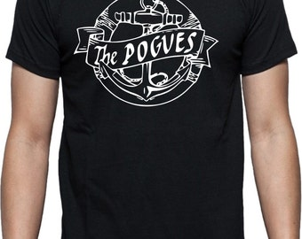 The Pogues T-Shirt - Anchor Logo, Irish, Punk, All Sizes/Colours