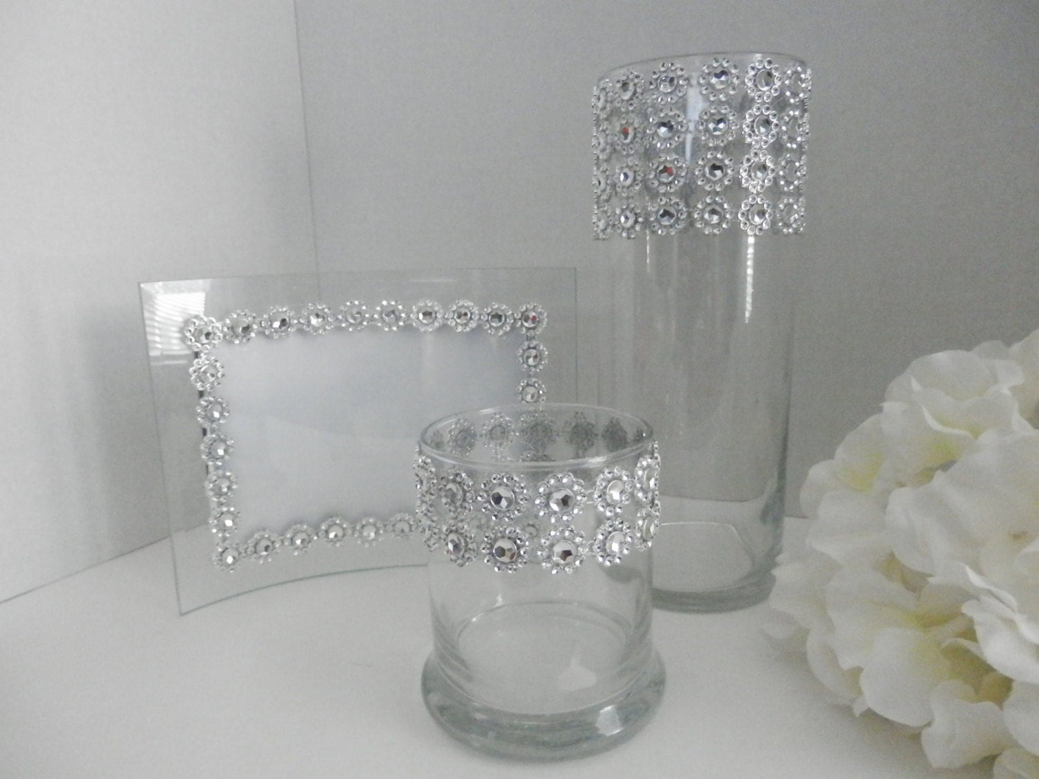Wedding centerpiece picture frame table set gold or