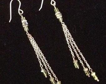Peridot and labradorite Earrings