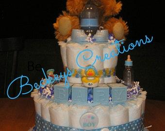2 Tier Basic Diaper Cake