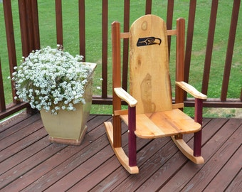 Children's Seahawks Rocking Chair