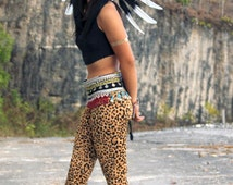 Feather headdress black and white feathers, Indian inspired headdress, native american style warbonnet, short length, feather headpiece