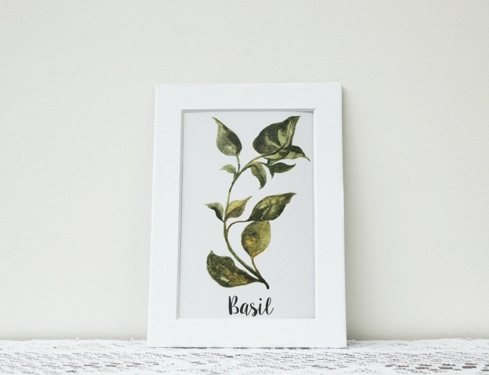 Https Www Etsy Com Listing 219100651 Kitchen Decor Herb Kitchen Watercolor