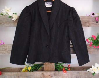 Vintage Blazer, Black Jacket, Vintage Small Blazer, 70s Fashion, Seventies Clothing, Retro Blazer, Vintage Suit Jacket