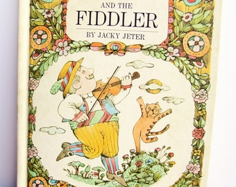 Books for Children, Vintage, The Cat and the Fiddler, Children's Toys,1960's