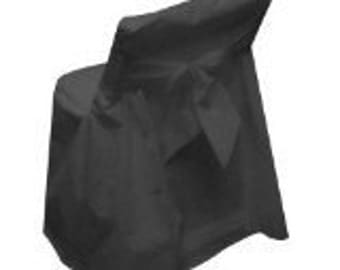 Black Folding Chair Covers with Bows (CLOSEOUT SALE)!!!!!