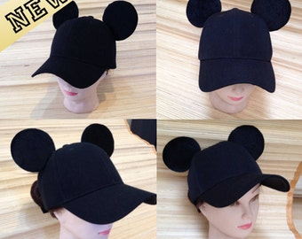 Adult Mickey Mouse Ears Baseball Cap!