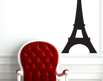 Eiffel Tower Wall Decal   Paris Bedroom Decor Bedroom Wall Decals Office  Art Modern World Continents