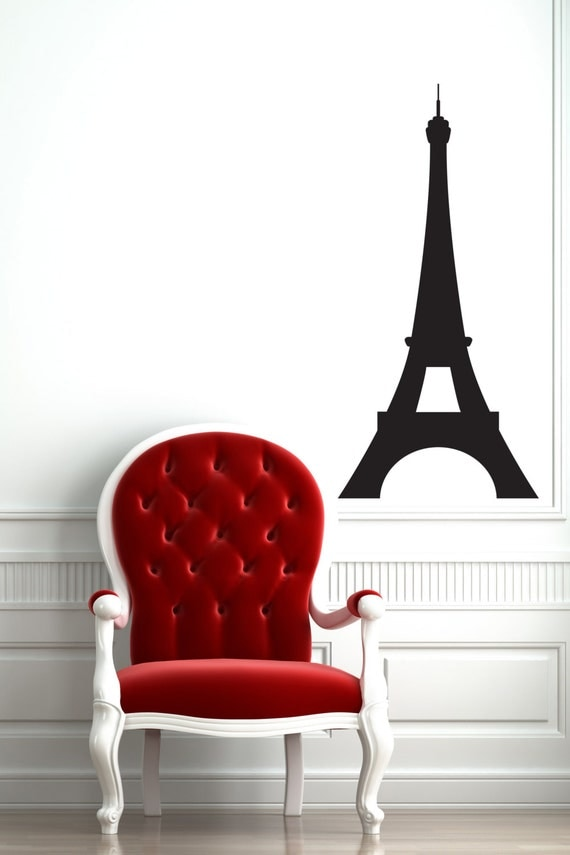 Small Eiffel Tower Wall Decor : Eiffel tower wall decal paris bedroom decor