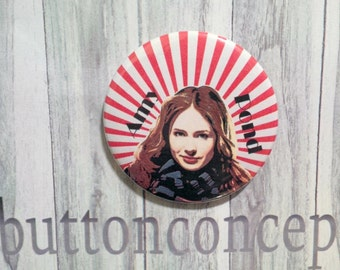 Amy pond Vexel art pin-back button 2.25 inches