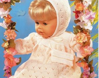 baby dolls clothes knitting pattern dolls pyjamas by Minihobo