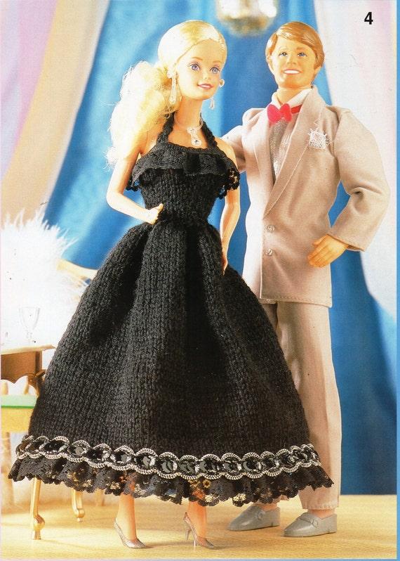 Knitting Patterns For Teenage Dolls : teenage dolls clothes knitting pattern Barbie evening dress