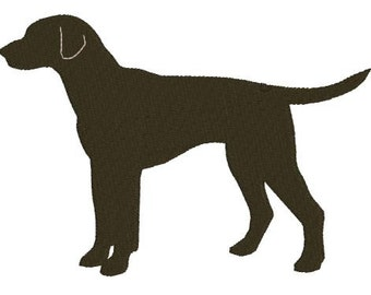 Embroidery Applique Labrador Dog Profile Design File Filled and Applique