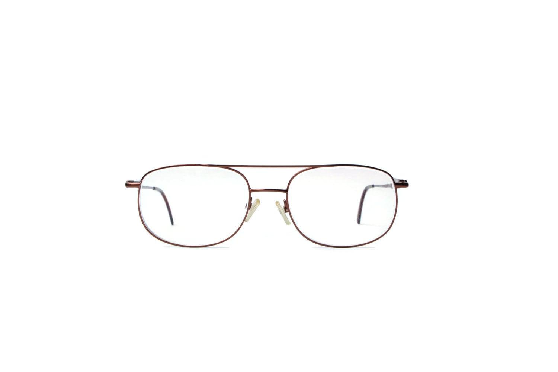d35bfa86db Eyeglass Gold brown Metallic unique Vintage eyeglasses Eyeglasses Hipster  retro Eyewear Frame