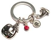 Pumpkin Keychain, Custom Keychain, Custom Key Ring, Pumpkin Pendant, Pumpkin Charm, Pumpkin Jewelry, Halloween Keychain, Witch Chat Charm