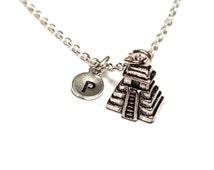 Aztec Necklace, Aztec Jewelry, Aztec Charm, Aztec Pendant, Maya Necklace, Maya Jewelry, Maya Pendant, El Castillo Charm, El Castillo Pendant