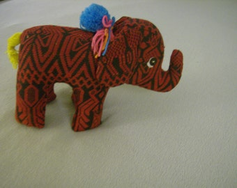 Guatemalan Stuffed Animal Elephant
