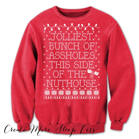 Christmas Vacation Sweater. Tacky Christmas Sweater. Griswold Christmas. Clark Griswold. Christmas Sweatshirt. National Lampoon. Red Sweater