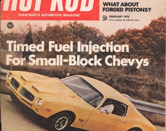 HOT ROD FEB. 1970 Automobiles Sports Cars Engines