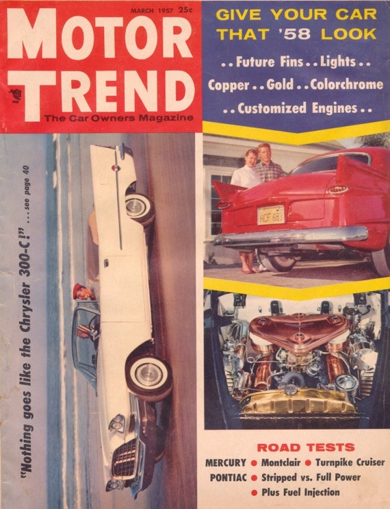 motor trend mar 1957 motor cars scarce vintage automobiles. Black Bedroom Furniture Sets. Home Design Ideas