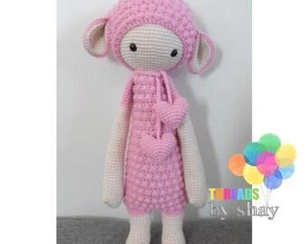 lupo sheep - crochet soft toy, plush, amigurumi