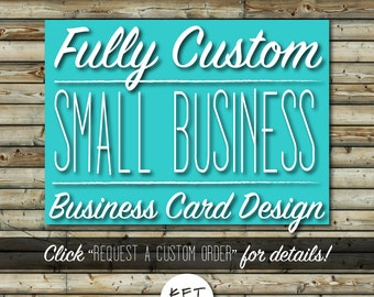 Custom Business Card Design | Etsy Shop Essentials | Small Business Marketing Tools | Unique, Made to Order | Digital File Printable