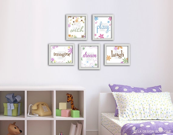 Inspirational wall art for girls inspirational wall art inspirational wall art set girl for Inspirational wall art for bedroom