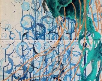 Jellyfish - original painting on canvas
