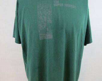 The Super Friendz Shirt XL Green 50/50 Vintage Halifax 90s
