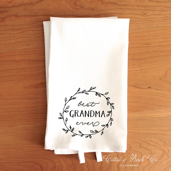 Best Grandma Ever Tea Towel Grandma Tea Towel By