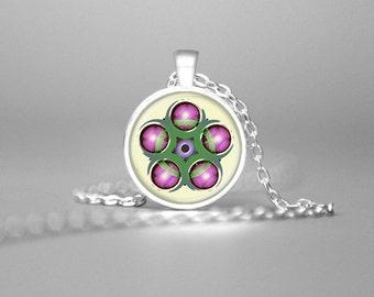 CROP CIRCLE Necklace Crop Circle Pendant Sacred Geometry UFO Jewelry Crop Circle Art Crop Circle Jewelry Crop Circles Crop Circle Images