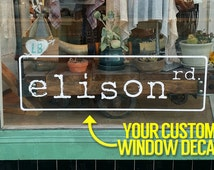 Custom Window Decal - Send us your logo! - Custom Size and Color - Business Name Decal - Business Logo Decal