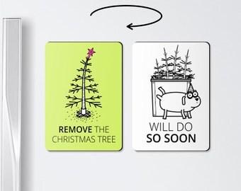 Christmas magnets :) Remove the christmas tree, christmas cards funny, christmas gifts