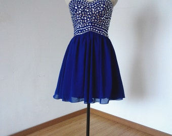 Cocktail dress royal blue 9mm