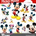 SUMMER SALE Mickey Mouse clipart, instant download, PNG background files