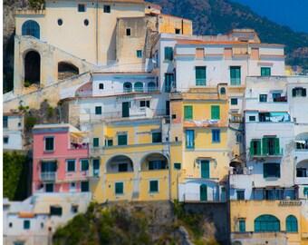 Colourful houses  Amalfi Coast Italy