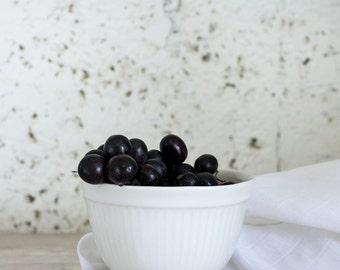 Ceramic Bowl, White Ceramic Serving Bowl,  Stoneware Bowl, Salad Bowl, Mixing Bowl, Huusewarming Gift, Ready To Ship