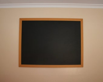 SALE!! Extra LARGE Brown Tan FRAMED Blackboard / Chalkboard - Hanging Timber Frame