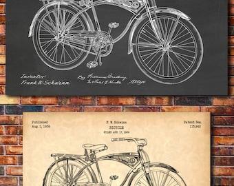 Schwinn Bicycle Patent Print Art 1939